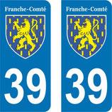 Lot de Blasons Franche Comté 39 Jura