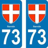 Lot de 2 Blasons Rhône Alpes 73 Savoie