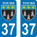 Lot de 2 stickers  ville de Tours