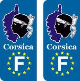 Lot de 2 adhésifs Contour de Corse F europe