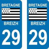 Lot de 2 adhésifs Bretagne 29 Finistère