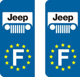 Lot de 2 stickers Jeep europe