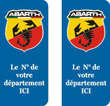 Lot de 2 stickers Abarth N° au choix
