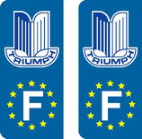 Lot de 2 stickers Triumph Europe