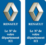 Lot de 2 stickers Renault n° au choix