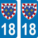 Lot de 2 Blasons Centre 18 Cher