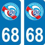 Lot de 2 stickers RCS avec le N° 68