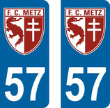 Lot de 2 stickers FC Metz N° 57