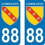 Lot de 2 Blasons Lorraine 88 Vosges