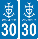 Lot de 2 stickers Camargue 30