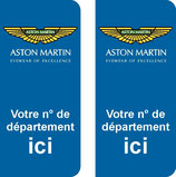 Lot de 2 stickers Aston Martin N° au choix