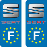 Lot de 2 stickers Seat Europe