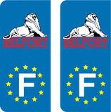 Lot de 2 stickers Territoire de Belfort Europe