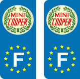 Lot de 2 stickers Mini Cooper Europe