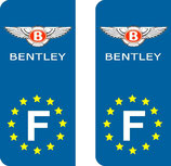 Lot de 2 stickers Bentley Europe