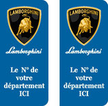 Lot de 2 stickers Lamborghini N° au choix
