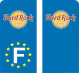 Lot de 2 stickers Hard Rock Café Moto