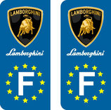 Lot de 2 stickers Lamborghini Europe