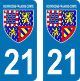 Lot de 2 Blasons Bourgogne 21 Cotes d'Or