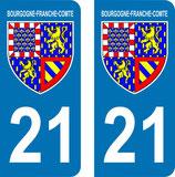 Lot de 2 Blasons Bourgogne 21 Cotes d'Or