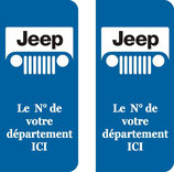 Lot de 2 stickers Jeep n° au choix