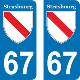 Lot de 2 stickers ville de Strasbourg n° 67