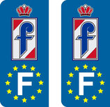Lot de 2 stickers Pininfarina Europe