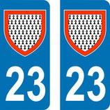 Lot de 2 Blasons Limousin 23 Creuse