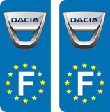 Lot de 2 stickers Dacia Europe