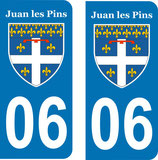 Lot de 2 stickers Juan les Pins n° 06