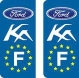 Lot de 2 stickers Ford Ka Europe