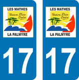 Lot de 2 stickers Les Mathes La Palmyre n° 17