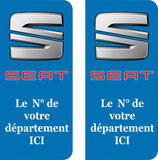 Lot de 2 stickers Seat N° au choix