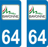 Stickers Logo ville de Bayonne n° 64