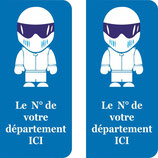 Lot de 2 stickers STIG N° au choix
