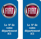 Lot de 2 stickers Fiat n° au choix