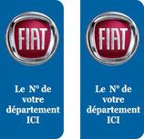 Lot de 2 stickers Fiat n° au choix