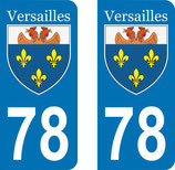 Lot de 2 stickers ville de Versailles