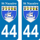 Lot de 2 stickers ville de St Nazaire n° 44