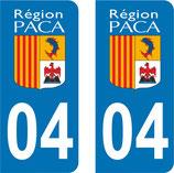 Lot de 2 adhésifs PACA 04 Alpes de haute Provence