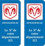 Lot de 2 stickers Dodge n° au choix