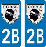 Lot de 2 Blasons Corse 2B Corse du Nord