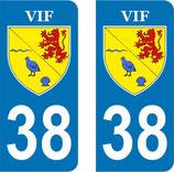 Lot de 100 paires de stickers ville de VIF N° 38