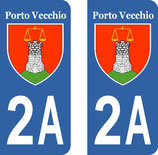 Lot de 2 stickers Porto Vecchio