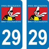 Lot de 2 stickers Pays Bigouden 29