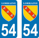 Lot de 2 Blasons Lorraine 54 Meurte et Moselle