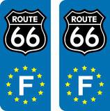 Logo Route 66 couleur noir Europe