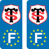 Lot de 2 stickers Stade Toulousain Europe