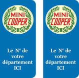 Lot de 2 stickers Mini Cooper N° au choix