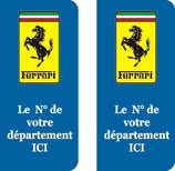 Lot de stickers Ferrari n° au choix logo rectangulaire